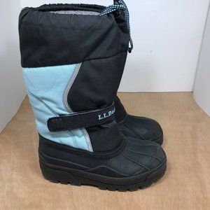 LL Bean Blue Double Lined Snow boots youth size 2